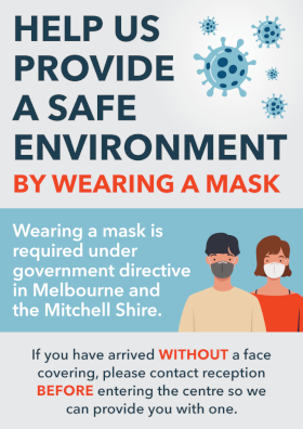 Please help us provide a safe environment by wearing a mask inside.